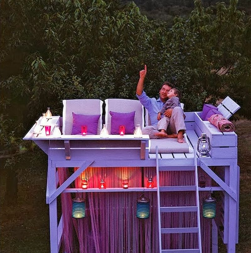 adelaparvu.com despre chiosc de gradina cu etaj, atelier de artist in aer liber (1)