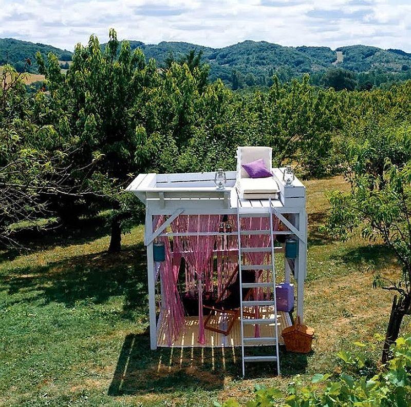 adelaparvu.com despre chiosc de gradina cu etaj, atelier de artist in aer liber (2)