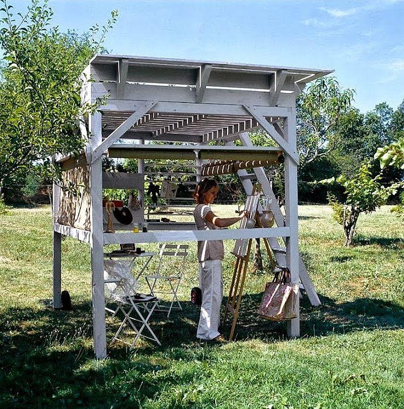 adelaparvu.com despre chiosc de gradina cu etaj, atelier de artist in aer liber (3)