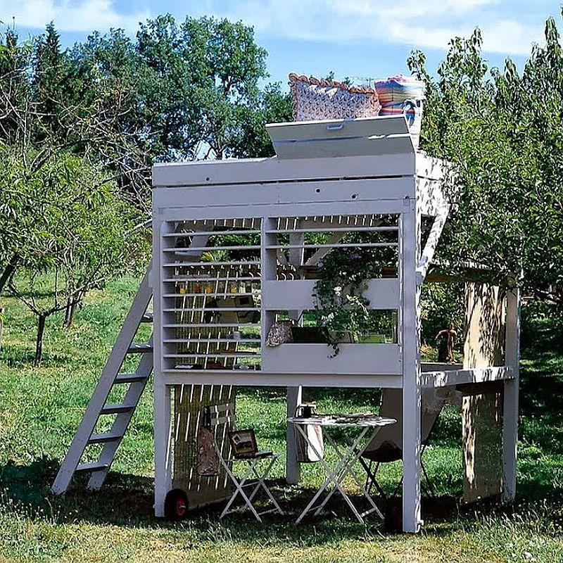 adelaparvu.com despre chiosc de gradina cu etaj, atelier de artist in aer liber (5)