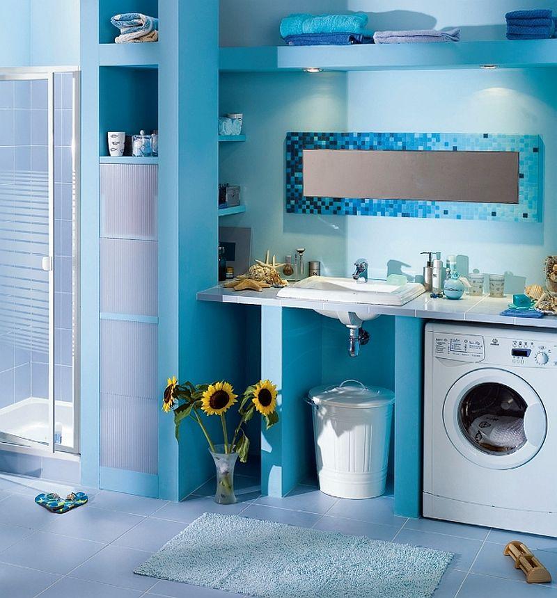 adelaparvu.com despre loc in baie pentru masina de spalat rufe  (1)