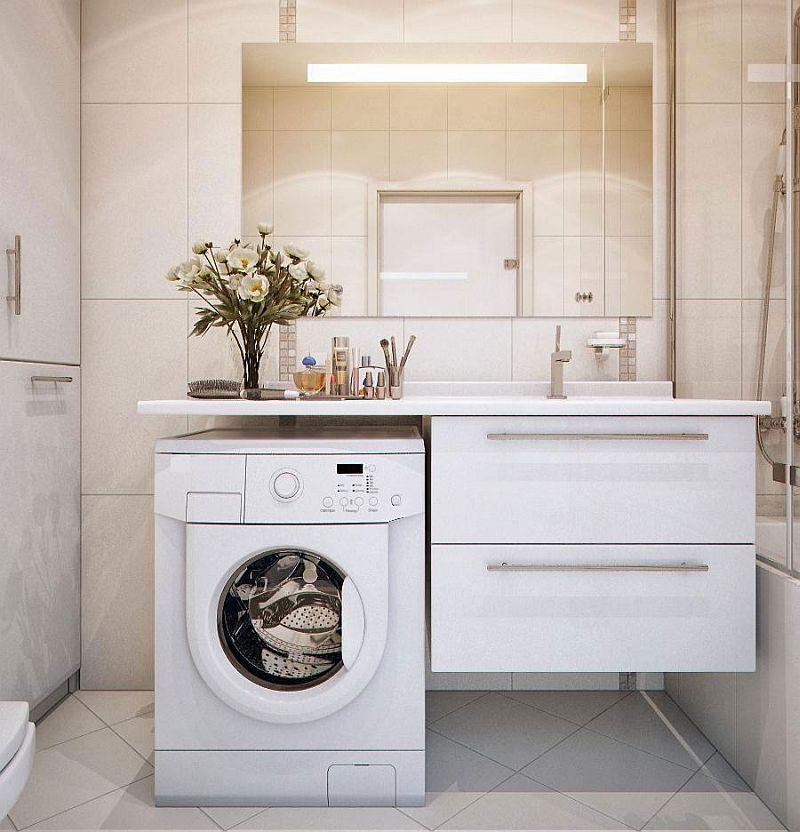 adelaparvu.com despre loc in baie pentru masina de spalat rufe  (3)