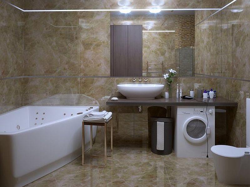 adelaparvu.com despre loc in baie pentru masina de spalat rufe  (9)