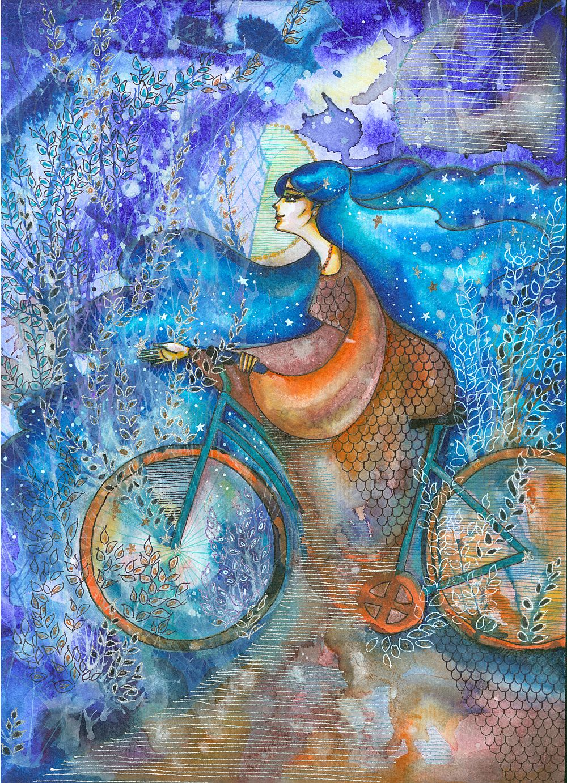 adelaparvu.com despre O povEstetica, expozitie la Pallets, artist Alina Borcea, lucrare Bike On Stars