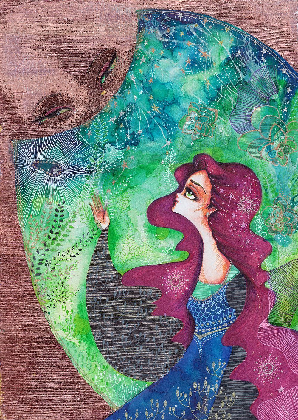 adelaparvu.com despre O povEstetica, expozitie la Pallets, artist Alina Borcea, lucrare Embrace