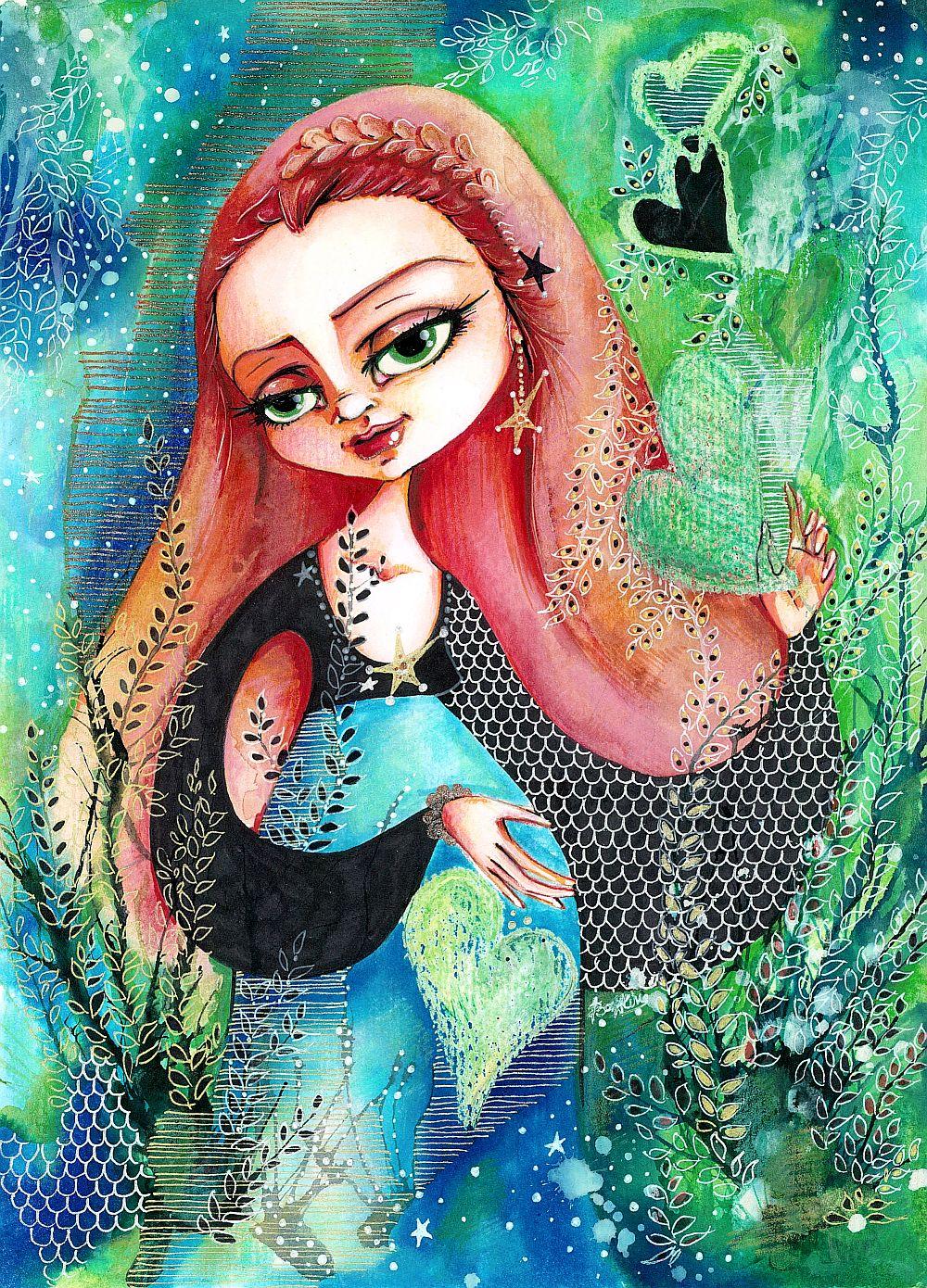adelaparvu.com despre O povEstetica, expozitie la Pallets, artist Alina Borcea, lucrare  Lil' Heart