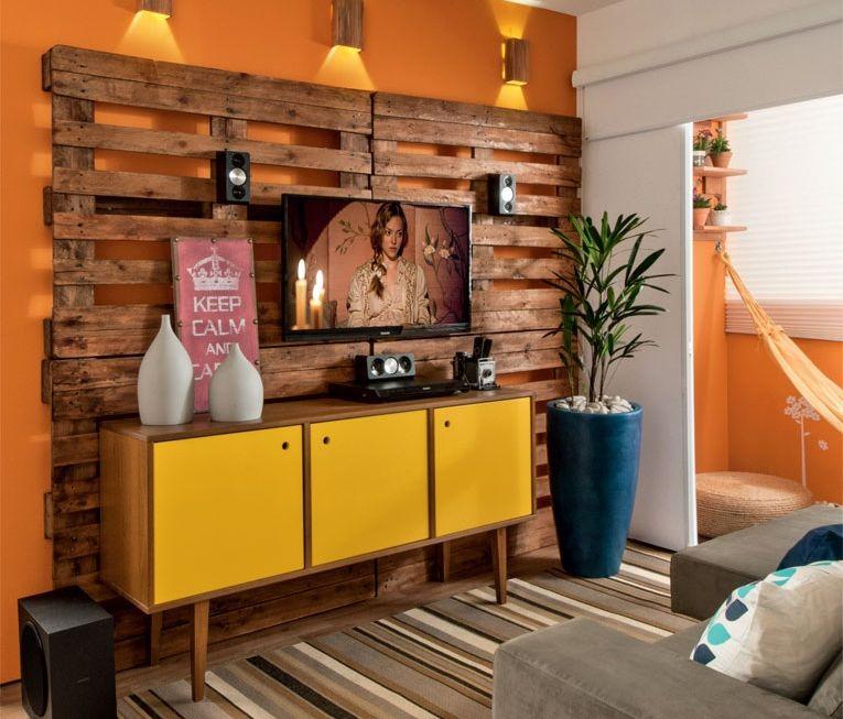 adelaparvu.com despre amenajare living mic cu euro paleti, living 10 mp, design Glaucio Gonçalves, Foto Minha Casa  (2)