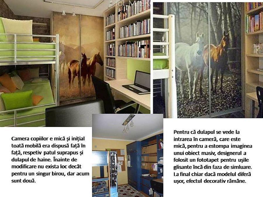 adelaparvu.com despre apartament bloc 50 mp decorat cu fototapet, designer Krystyna Mikolajska  (1)