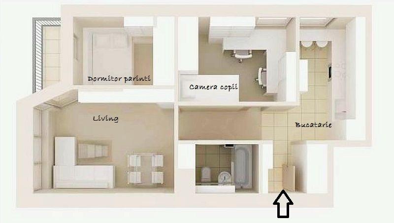 adelaparvu.com despre apartament bloc 50 mp decorat cu fototapet, designer Krystyna Mikolajska  (10)