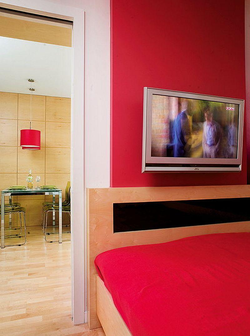 adelaparvu.com despre apartament bloc 50 mp decorat cu fototapet, designer Krystyna Mikolajska  (12)