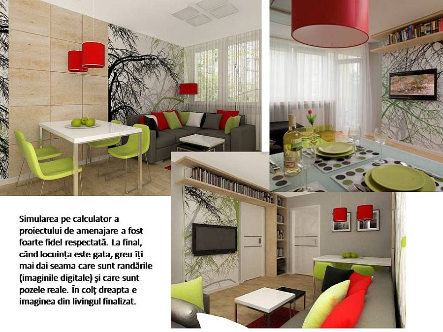 adelaparvu.com despre apartament bloc 50 mp decorat cu fototapet, designer Krystyna Mikolajska  (14)