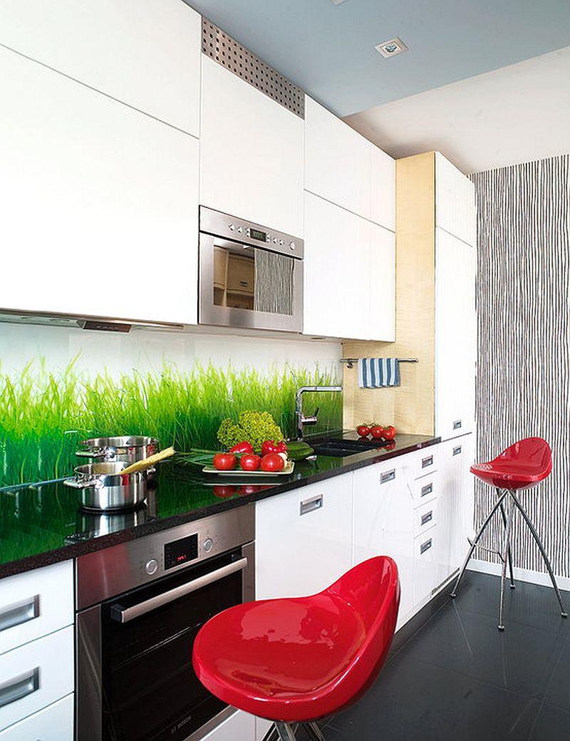 adelaparvu.com despre apartament bloc 50 mp decorat cu fototapet, designer Krystyna Mikolajska  (3)