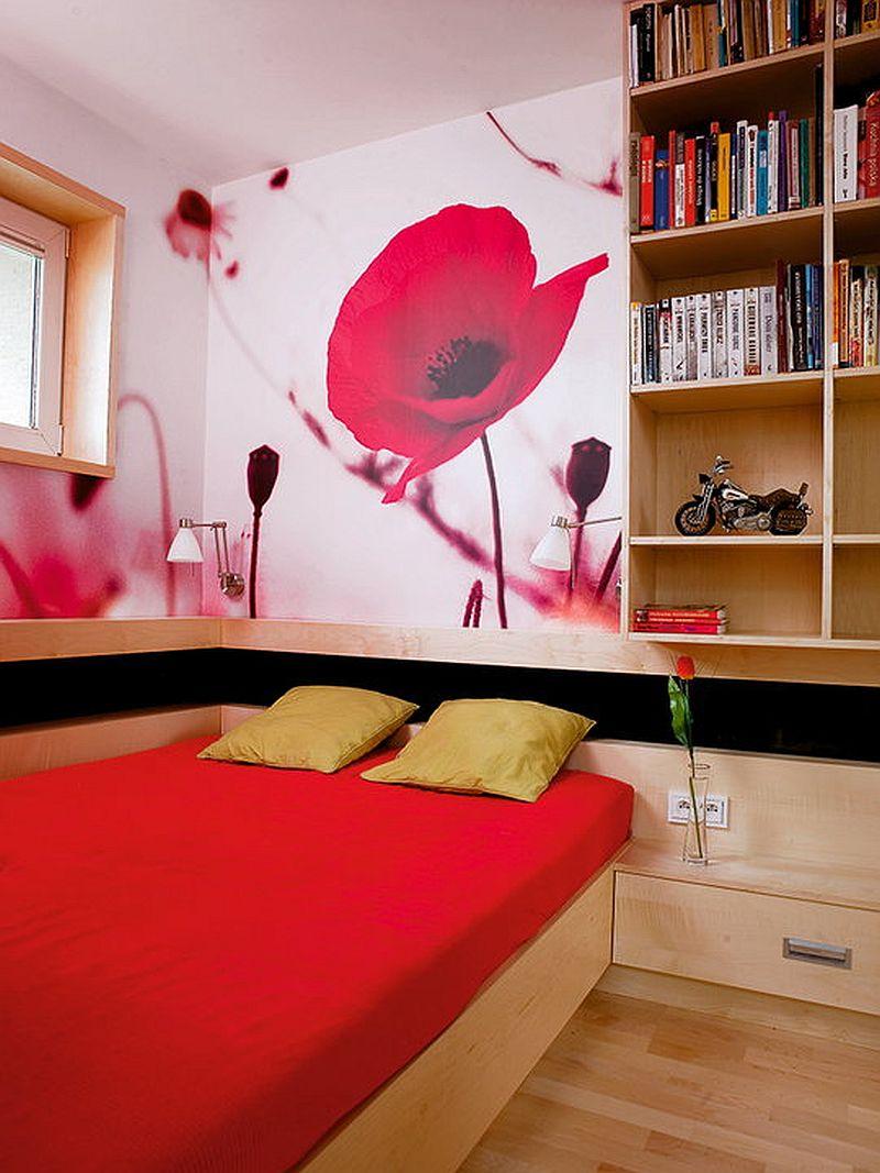 adelaparvu.com despre apartament bloc 50 mp decorat cu fototapet, designer Krystyna Mikolajska  (4)