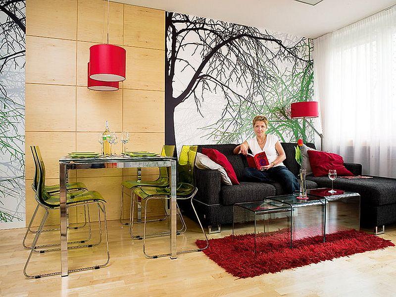 adelaparvu.com despre apartament bloc 50 mp decorat cu fototapet, designer Krystyna Mikolajska  (5)