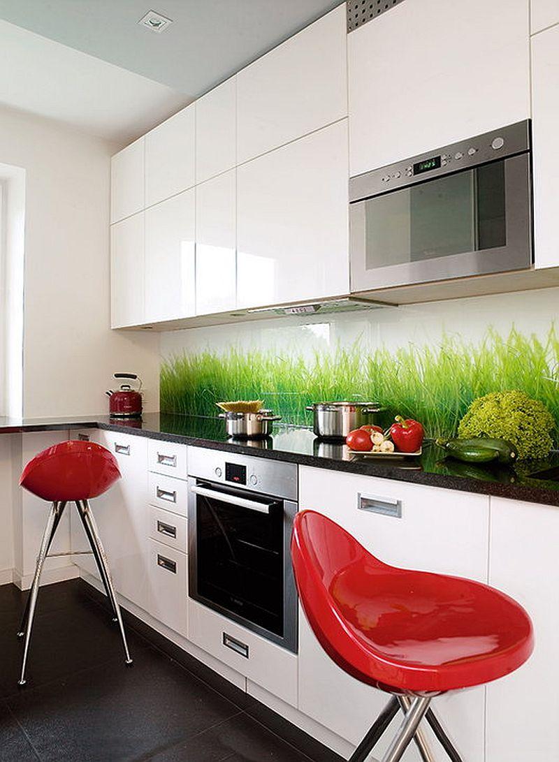 adelaparvu.com despre apartament bloc 50 mp decorat cu fototapet, designer Krystyna Mikolajska  (8)