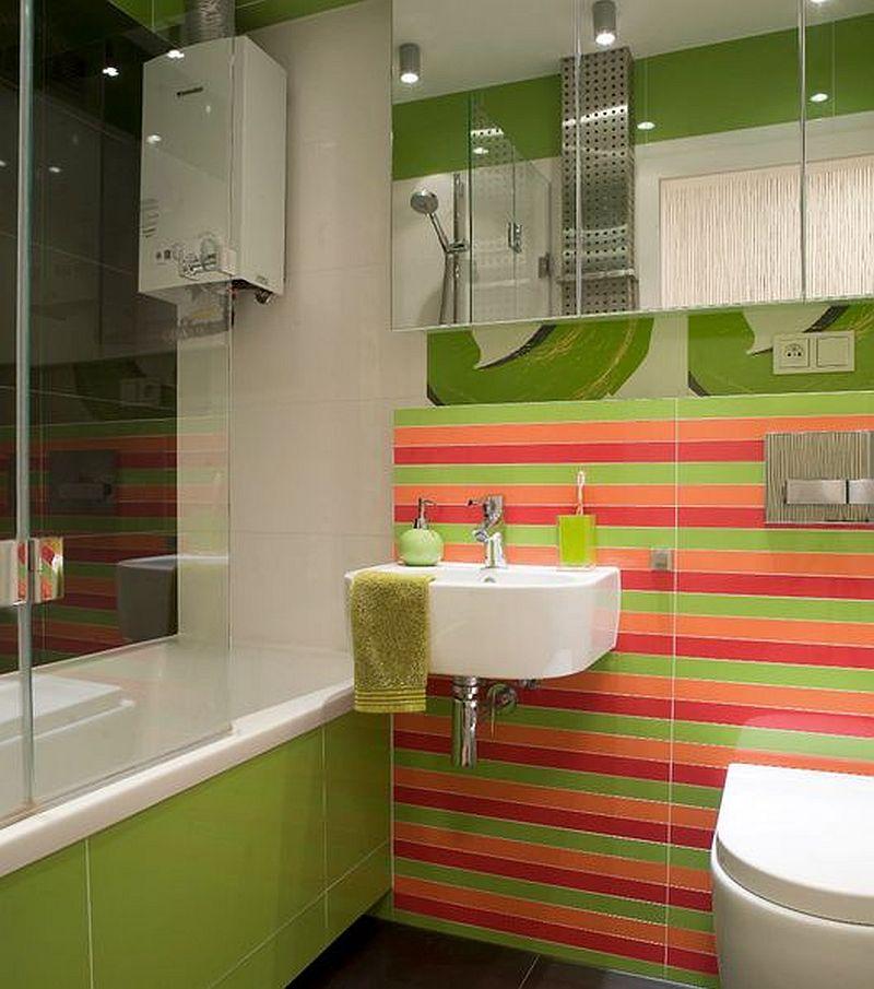adelaparvu.com despre apartament bloc 50 mp decorat cu fototapet, designer Krystyna Mikolajska  (9)