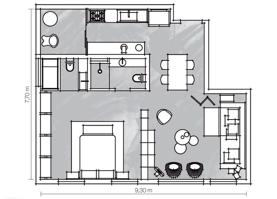 adelaparvu.com despre apartament de 70 mp cu mobila din lazi de plastic, arhitecti Paula Sertorio si Victor Paixao, PAX (2)