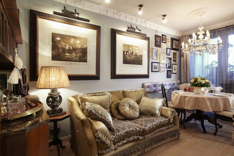 adelaparvu.com despre apartament de bloc 50 mp in stil clasic, designer Anna Putilova (3)