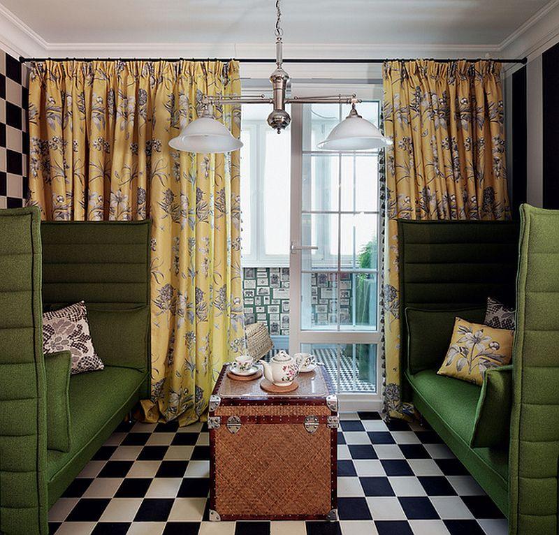 adelaparvu.com despre apartament de bloc 55 mp cu multe draperii, locuinta Moscova, Foto AD (3)