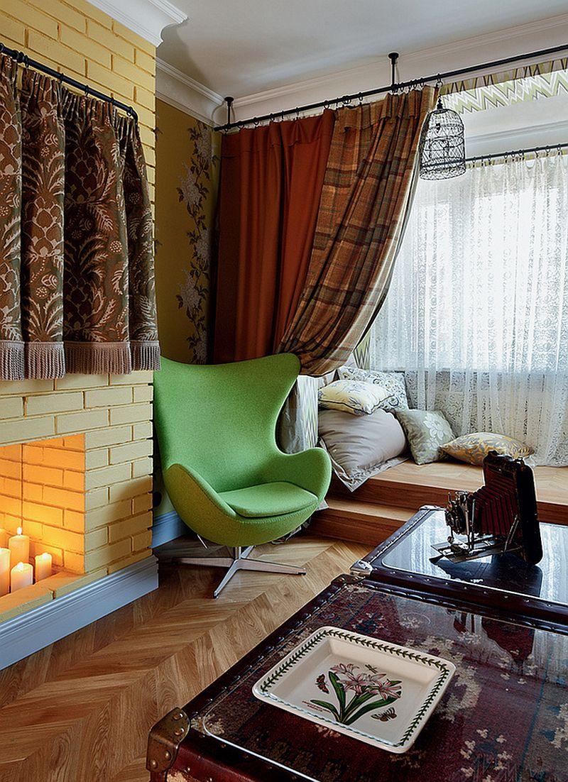 adelaparvu.com despre apartament de bloc 55 mp cu multe draperii, locuinta Moscova, Foto AD (6)