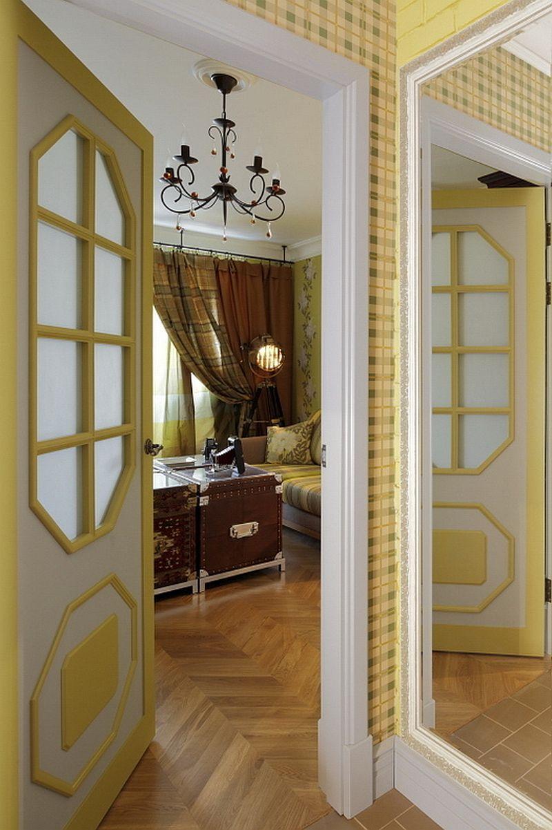 adelaparvu.com despre apartament de bloc 55 mp cu multe draperii, locuinta Moscova, Foto AD (9)