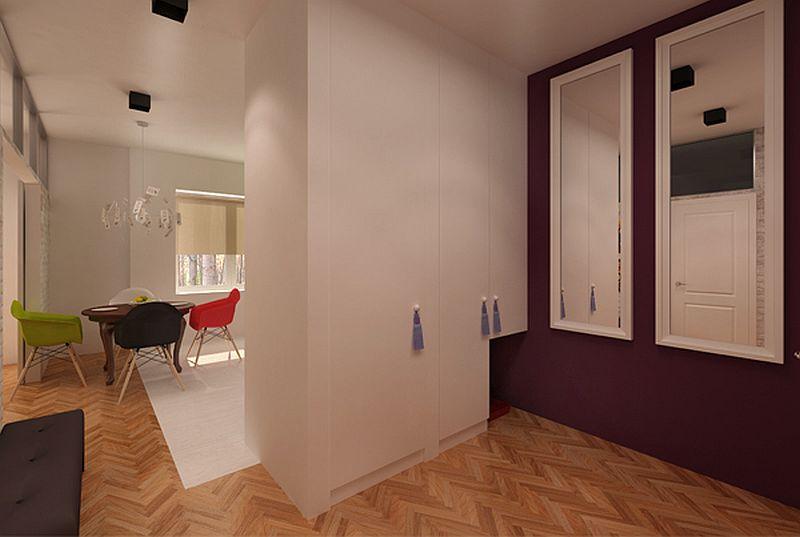 adelaparvu.com despre apartament de doua camere eclectic si tineresc amenajat, design interior Sojka & Wojciechowski (10)