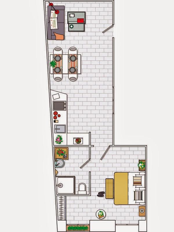 adelaparvu.com despre apartament lung si ingust de 45 mp , Foto Casa Diez (8)