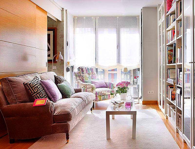 adelaparvu.com despre apartament mic 40 mp cu living separat de dormitor cu usa glisanta (1)