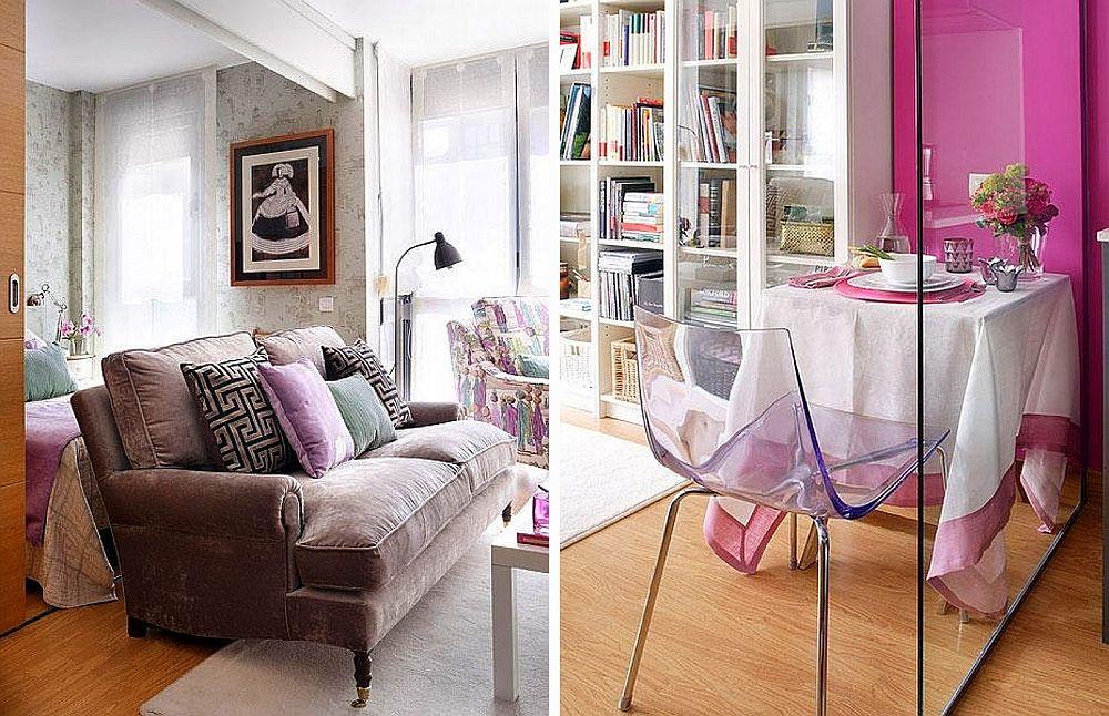 adelaparvu.com despre apartament mic 40 mp cu living separat de dormitor cu usa glisanta (11)