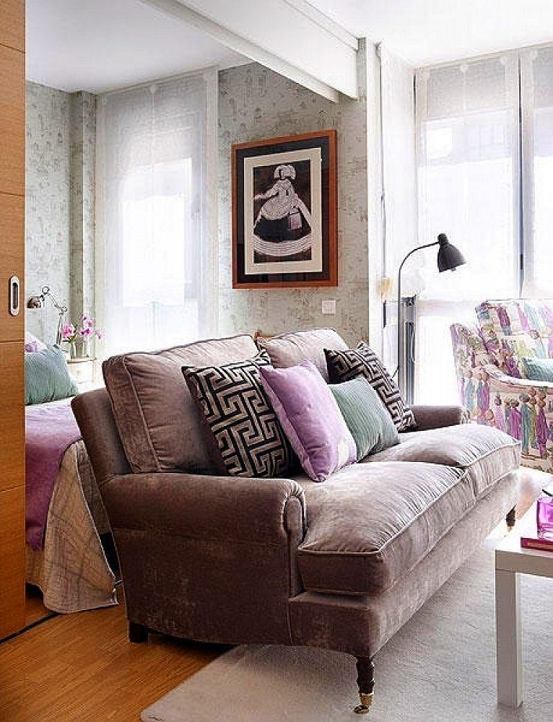 adelaparvu.com despre apartament mic 40 mp cu living separat de dormitor cu usa glisanta (6)