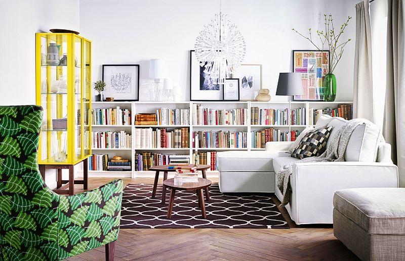 adelaparvu.com despre biblioteca Billy 129 lei, piese ieftine si bune de la IKEA, colectia 2015 (1)