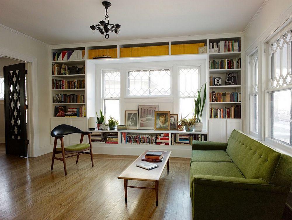adelaparvu.com despre biblioteci in jurul ferestrelor si usilor, Foto Keep Smiling Home