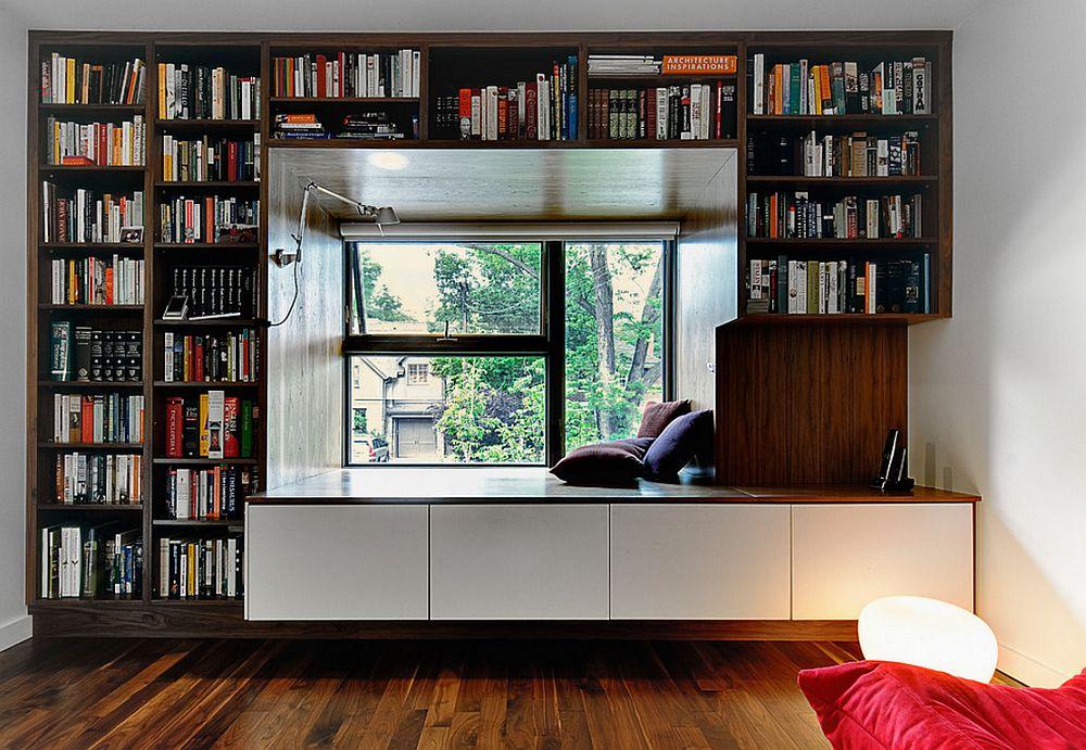 adelaparvu.com despre biblioteci in jurul ferestrelor si usilor, design Altius Architecture
