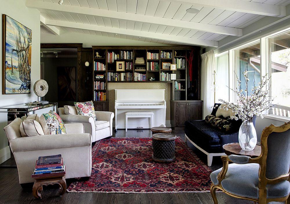 adelaparvu.com despre biblioteci in jurul ferestrelor si usilor, design Andrea Schumacher Interiors