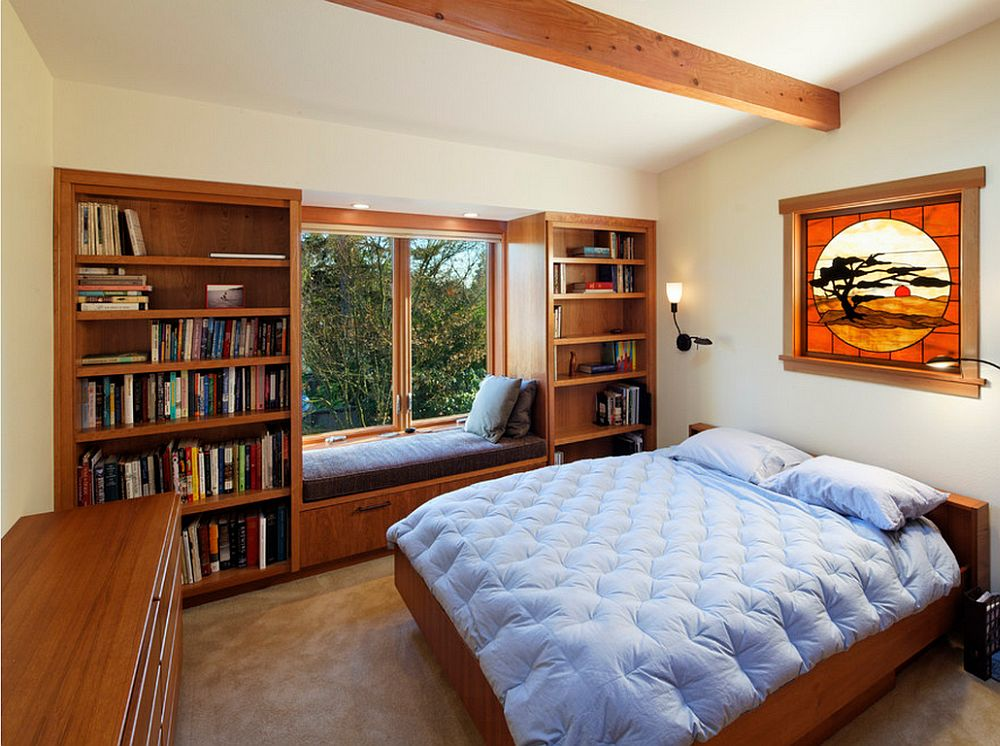 adelaparvu.com despre biblioteci in jurul ferestrelor si usilor, design Corvallis Custom Kitchens & Baths