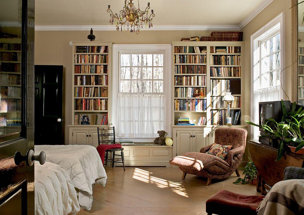 adelaparvu.com despre biblioteci in jurul ferestrelor si usilor, design Crisp Architects2