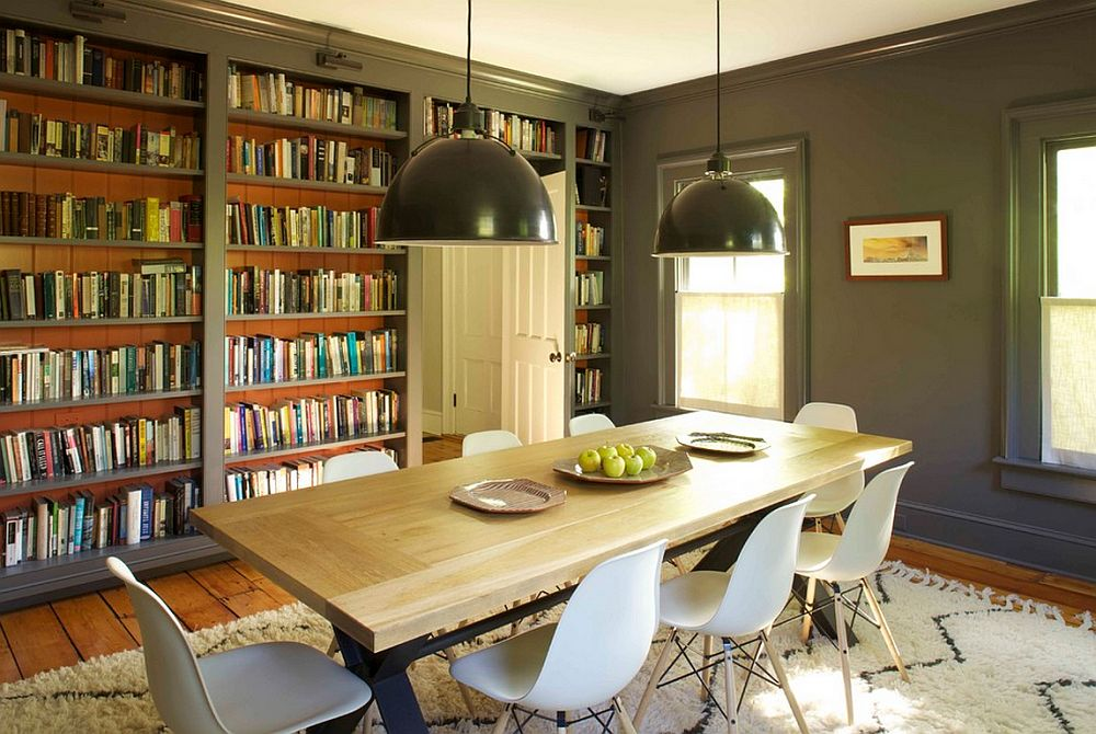 adelaparvu.com despre biblioteci in jurul ferestrelor si usilor, design Kate Johns