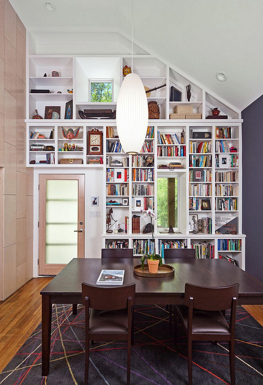 adelaparvu.com despre biblioteci in jurul ferestrelor si usilor, design Merzbau Design Collective