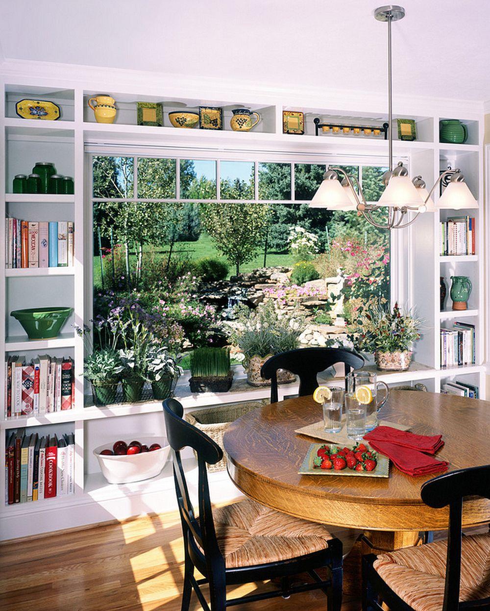 adelaparvu.com despre biblioteci in jurul ferestrelor si usilor, design Parrish Construction