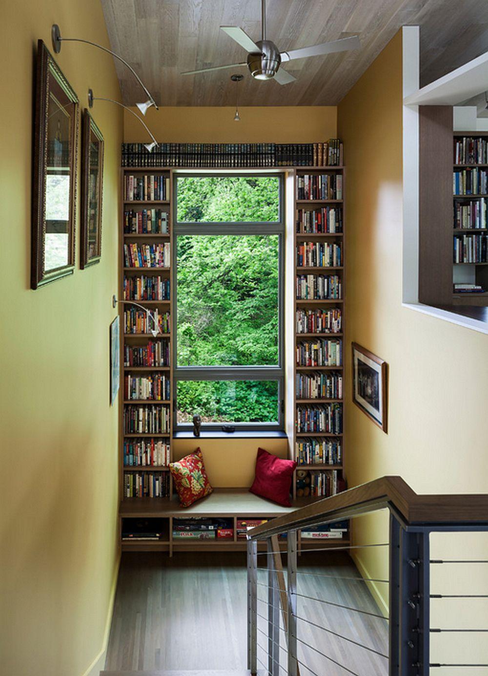 adelaparvu.com despre biblioteci in jurul ferestrelor si usilor, design Sarah Nettleton Architects