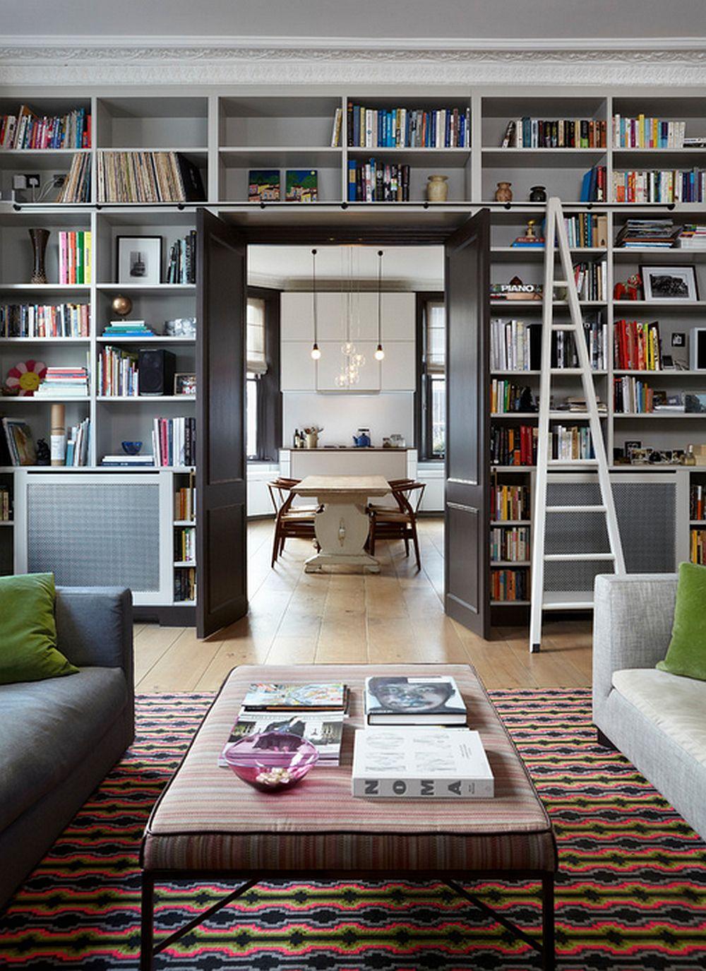adelaparvu.com despre biblioteci in jurul ferestrelor si usilor, design Sigmar
