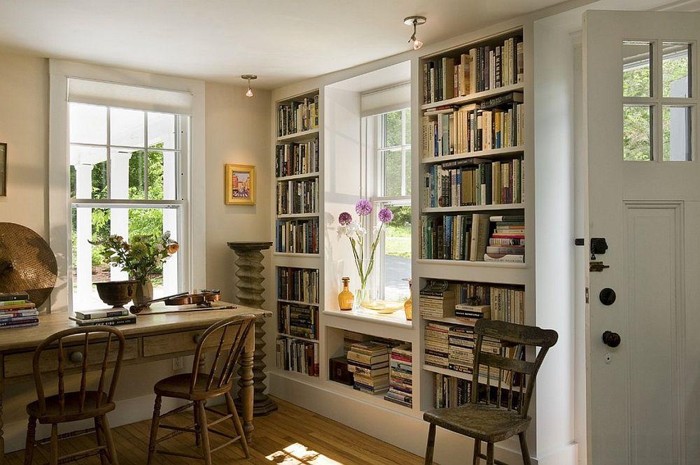 adelaparvu.com despre biblioteci in jurul ferestrelor si usilor, design Smith and Vansant Architects
