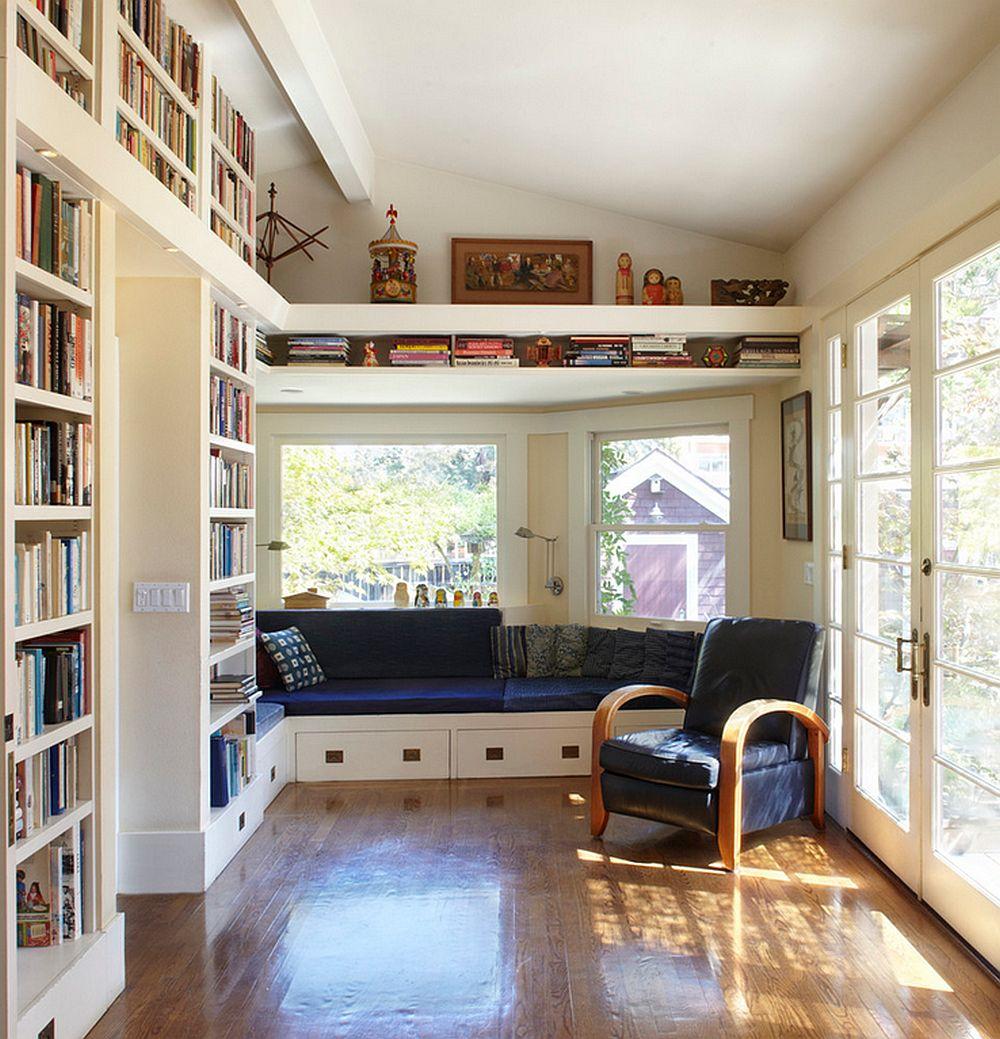 adelaparvu.com despre biblioteci in jurul ferestrelor si usilor, design Studio Bergtraun 2