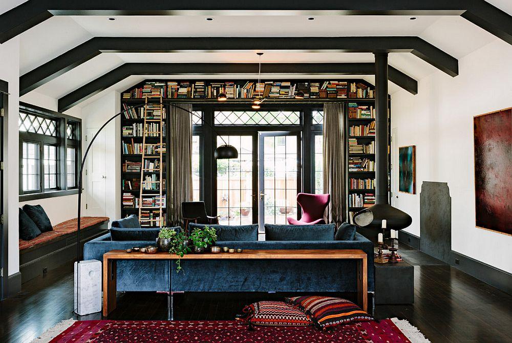 adelaparvu.com despre biblioteci in jurul ferestrelor si usilor, design The Works