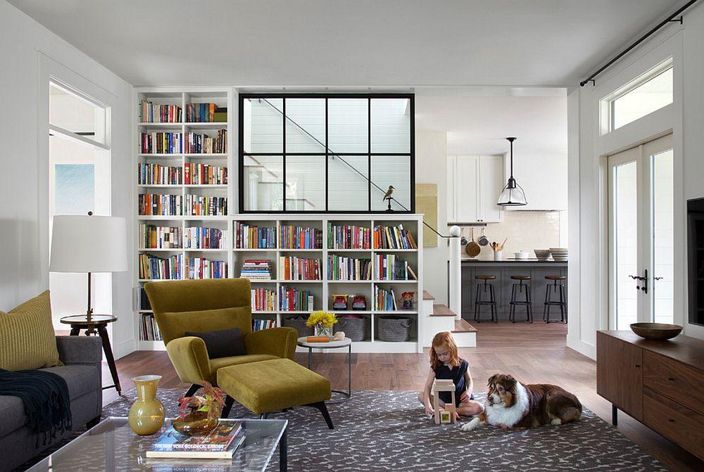 adelaparvu.com despre biblioteci in jurul ferestrelor si usilor, design Tim Cuppett Architects