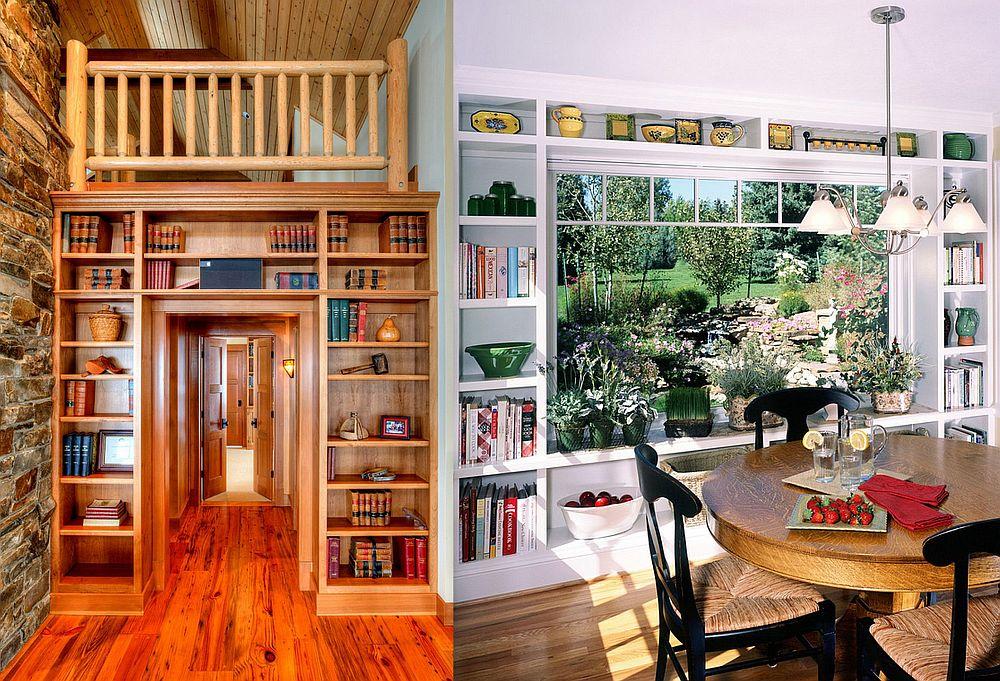 adelaparvu.com despre biblioteci in jurul ferestrelor si usilor