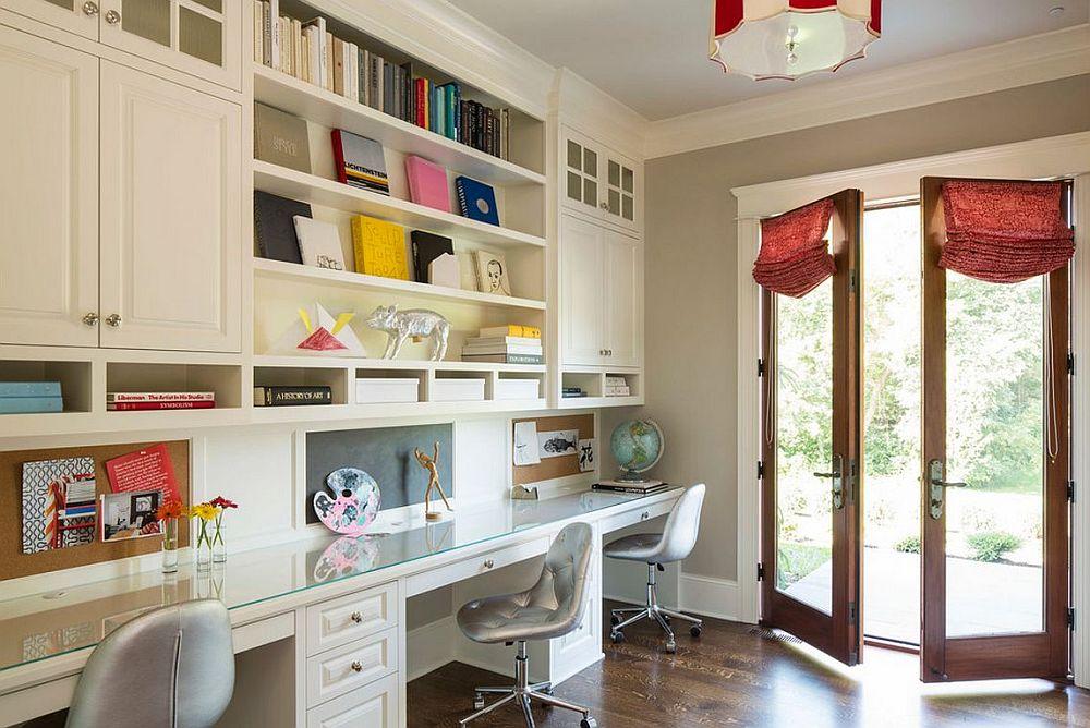 adelaparvu.com despre birouri pentru trei persoane, design Martha O'Hara Interiors