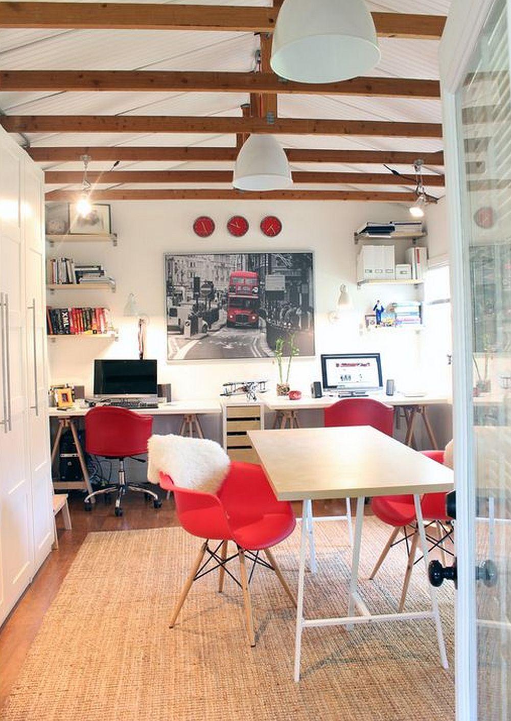 adelaparvu.com despre birouri pentru trei persoane, design Suzanne Dingley Interiors