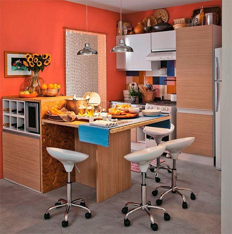 adelaparvu.com despre bucatarii mici, bucatarii colorate (1)