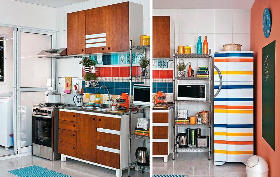 adelaparvu.com despre bucatarii mici, bucatarii colorate (5)